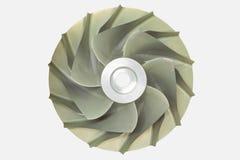 Impeller för typ för kompressor för gasturbin centrifugal arkivfoton