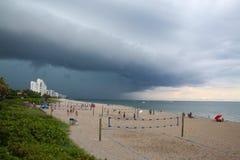 Impending Rain Storm at Deerfield Beach, Florida Royalty Free Stock Image