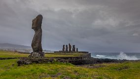 Impending Storm approaching Easter Island as the waves are picking up