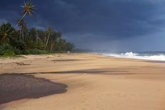 The impending storm. On the Indian Ocean shore. Sri Lanka Island Stock Photography