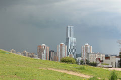 The impending storm. In Moscow Stock Photos