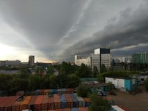 Impending storm on the outskirts of Moscow. stock images