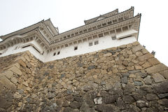 Impenetrable wall of the Himeji Castle, Japan Stock Image