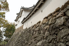 Impenetrable wall of the Himeji Castle, Japan Royalty Free Stock Images