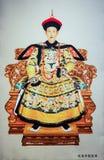 Imperador Qianlong e rainha de Qing Dynasty em China fotografia de stock