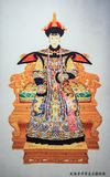 Imperador Qianlong e rainha de Qing Dynasty em China imagem de stock royalty free