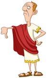 Imperador romano com polegar para baixo ilustração royalty free