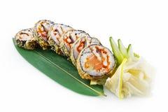 Imperatore dei sushi isolato su fondo bianco fotografia stock