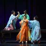 imperatrizes festa-modernas do drama da Homicídio-morte no palácio Fotos de Stock Royalty Free