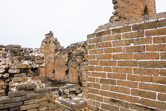 imperfect eastern Jinshanling Great Wall royalty free stock photo