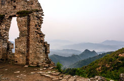 imperfect eastern Jinshanling Great Wall royalty free stock images