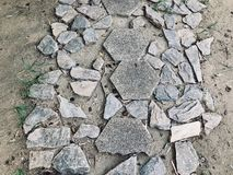 Imperfection of rocks pavement stock image