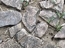 Imperfezione della pavimentazione delle rocce fotografia stock libera da diritti