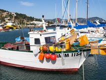 Various boats moored in the harbor Royalty Free Stock Photography