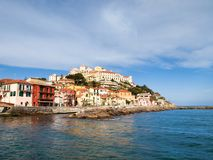 Imperia, view from the sea. Royalty Free Stock Photography