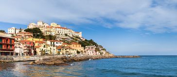 Imperia, view from the sea. stock photography