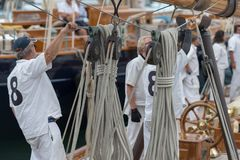 Panerai Classic Yachts Challenge, Imperia, Italy Stock Photos