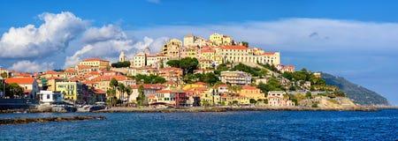 Imperia, Italy. View of Porto Maurizio, the old town of Imperia, Italy Stock Image