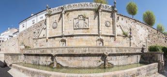 Imperiał lub Carlos V fontanna, sierra de Segura, Jaen, Hiszpania Obraz Royalty Free