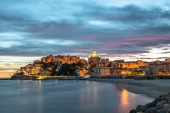 Free Imperia Porto Maurizio At Sunset Stock Photography - 167510472