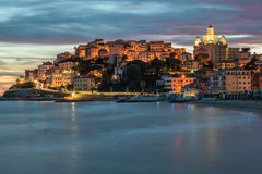 Free Imperia Porto Maurizio At Sunset Stock Photos - 167510503