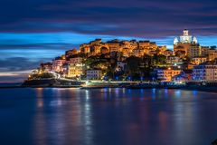 Free Imperia Porto Maurizio At Sunset Royalty Free Stock Photo - 167510505