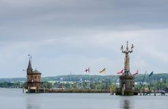 Imperia statua przy wejściem schronienie Constance, Niemcy obrazy stock