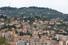 Imperia town in Italy Stock Photo