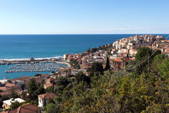 Imperia - View on Porto Maurizio. Italian Riviera, Liguria. The town is a coastal city, well known for the cultivation of flowers and olives. Italy stock photo