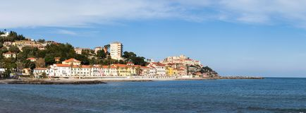 Imperia, view from the sea. Stock Images