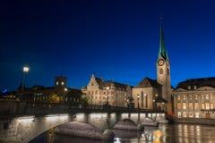 Imperial Abbey of Fraumunster  Reichskloster Fraumunster , Zurich Switzerland Royalty Free Stock Photo
