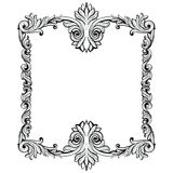 Imperial Baroque Mirror frame. Vector French Luxury rich intricate ornaments and crystals. Victorian Royal Style decor Stock Images