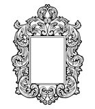 Imperial Baroque Mirror frame. Vector French Luxury rich intricate ornaments. Victorian Royal Style decor Royalty Free Stock Photo