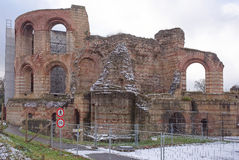 Imperial Baths - ruins of ancient baths. Trier,Germany- January 03, 2017: Imperial Baths - ruins of ancient baths Royalty Free Stock Image