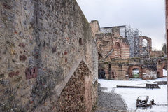 Imperial Baths - ruins of ancient baths. Trier,Germany- January 03, 2017: Imperial Baths - ruins of ancient baths Stock Photo