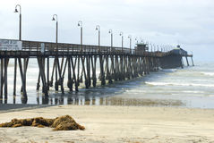 Imperial Beach Boardwalk. Wooden pier at Imperial Beach, California, USA Stock Photography