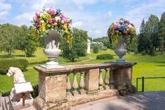 Imperial bouquet festival in Pavlovsky park, Pavlovsk, St. Petersburg, Russia royalty free stock photos