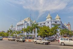Imperial buildings in Yngoon Royalty Free Stock Photography