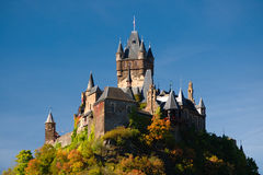 The imperial castle in Cochem Royalty Free Stock Photography