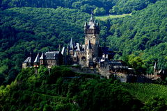 Imperial Castle of Germany at Cochem. Cochem is the seat of and the biggest town in the Cochem-Zell district in Rhineland-Palatinate, Germany. Above the city is royalty free stock photos