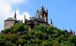 Imperial Castle of Germany at Cochem. Cochem is the seat of and the biggest town in the Cochem-Zell district in Rhineland-Palatinate, Germany. Above the city is stock photography