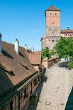 The Imperial Castle at Nuremberg. NUREMBERG, GERMANY - JUNE 13, 2019: The Imperial Castle courtyard royalty free stock image
