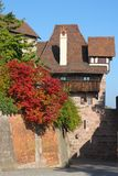 Imperial Castle of Nuremberg, Germany. Seen from the street on a bright sunny day in early Fall royalty free stock photo