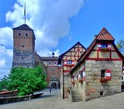 Imperial Castle in Nuremberg royalty free stock photos