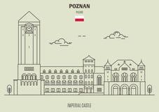Imperial Castle in Poznan, Poland. Landmark icon stock photography