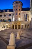 Imperial castle tower at night. In Poznan stock photos