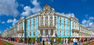 Imperial Catherine Palace at Tsarskoye Selo Stock Photos