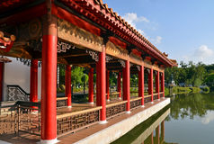 Imperial Chinese theme architecture at Singapore Chinese Gardens Stock Image