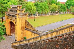 Imperial Citadel of Thăng Long, Vietnam UNESCO World Heritage. The Imperial Citadel of Thang Long is the cultural complex comprising the royal enclosure first royalty free stock photography