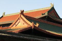 Imperial City. Imperial roof at Beijing Forbidden City stock photos